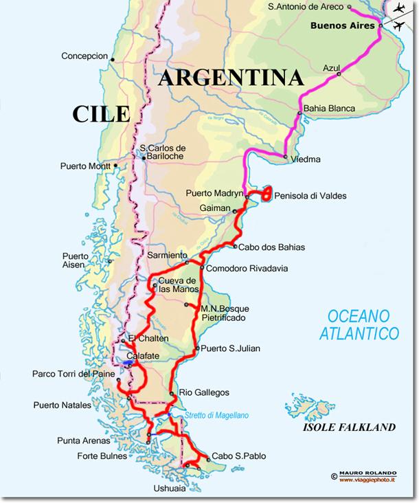 Patagonia Cartina Geografica.Cartina Argentina