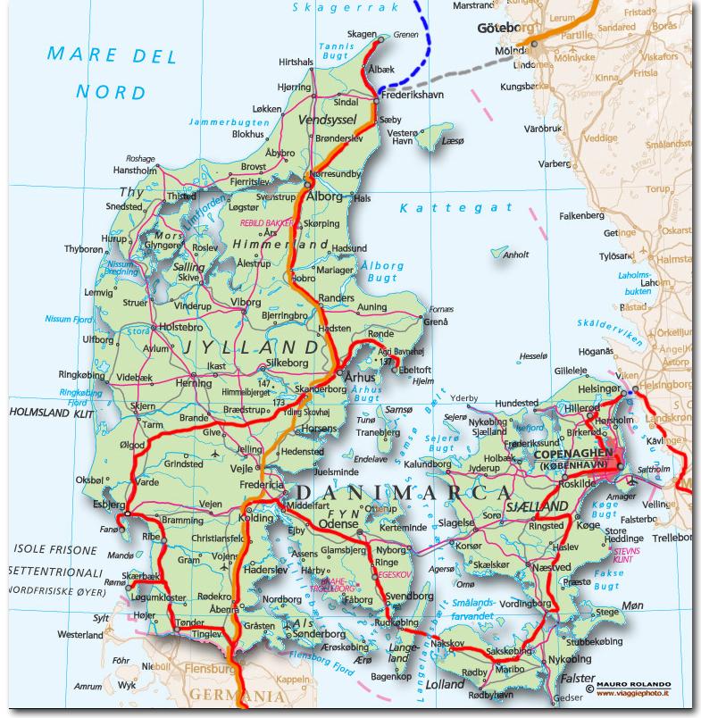 Cartina Della Danimarca.Cartina Danimarca