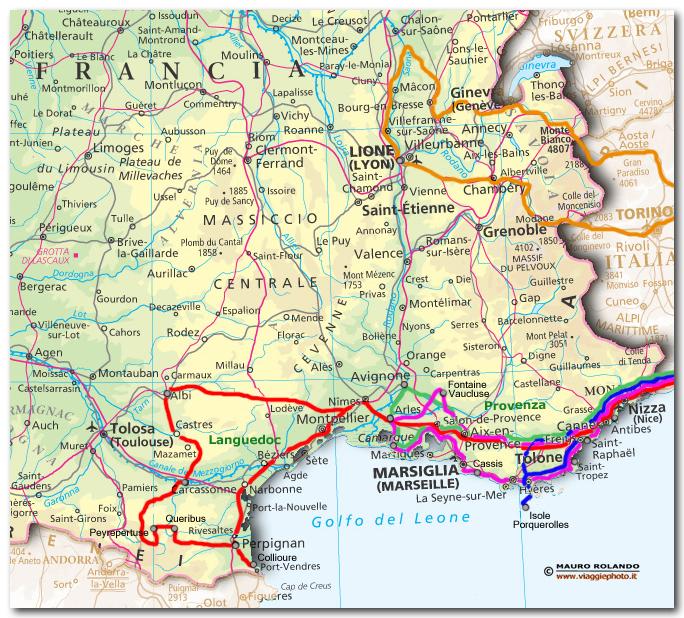 Cartina Francia Sud Dettagliata.Cartina Francia Languedoc