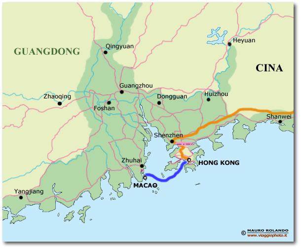 Cartina Hong Kong.Cartina Hong Kong