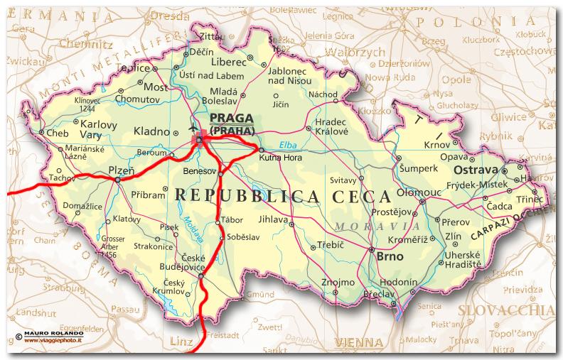Repubblica ceca capitale mappa for Repubblica politica