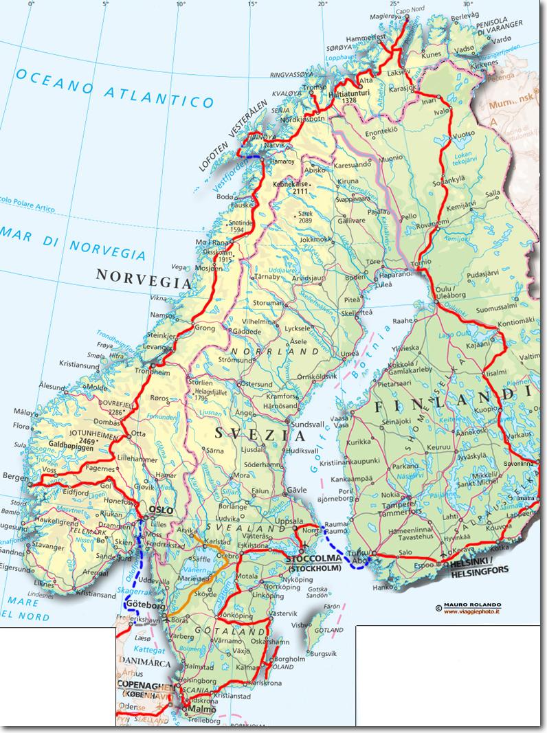 Cartina Della Svezia.Cartina Svezia
