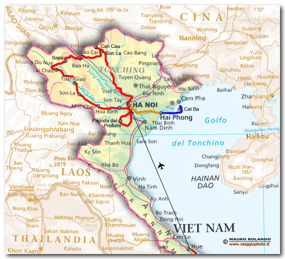 Cartina Nord.Cartina Minoranze Vietnam